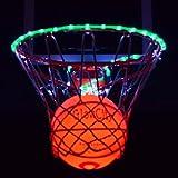 Light Up LED Basketball With Light Up LED Rim Kit (Green)