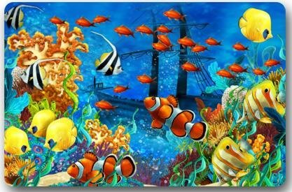 Ocean Tropical Fish Coral Undersea World Fish Large Doormat Neoprene Backing Non Slip Outdoor Indoor Bathroom Kitchen Decor Rug Mat Welcome Doormat (Fish Mats Bath & Rugs)