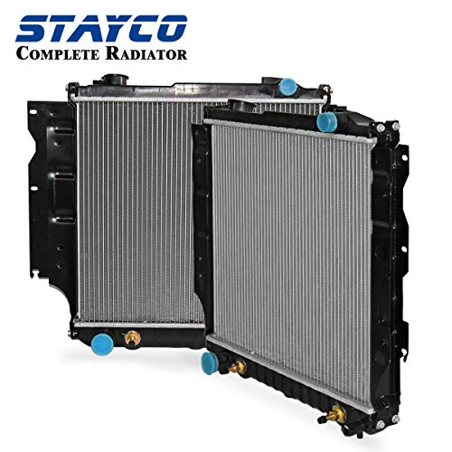(CU1015 Radiator Replacement for Jeep Wrangler 1987 1988 1989 1990 1991 1992 1993 1994 1995 L4 L6 4.0L 2.5L)