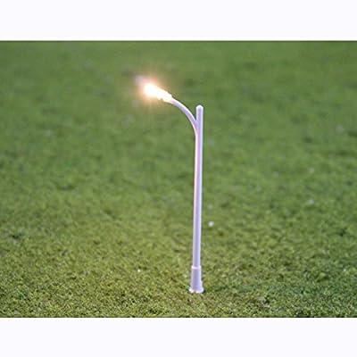 HO Gauge 1:100 Scale Model Street Light Lamppost Park Layout Single-end Lamp (Pack of 20)