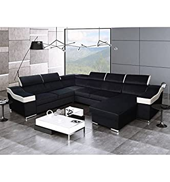 Gauche Passion Et Panoramique Noir Canapé Blanc D'angle l1JFKT3c
