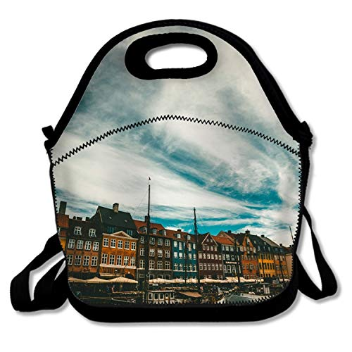 retro lunch box cute lunch bag Lunch Bag for WomenBoats Sea Copenhagen Denmark