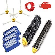 Amyehouse Replacement Parts Kit Bristle Brush & Flexible Beater Brush & Aero Vac Filter & Armed-3 Side Brush for iRobot Roomba 600 Series 610 620 630 650 650 655 660 690 Vacuum Cleaner