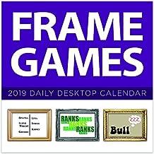 2019 Frame Games Daily Desk Calendar