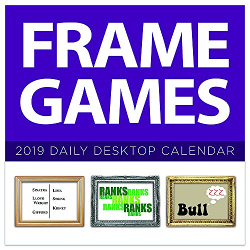 2019 Frame Games Daily Desk Calendar