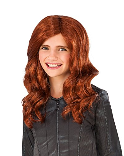 [Rubie's Costume Captain America: Civil War Kid's Black Widow Wig] (Girls Black Widow Costumes)