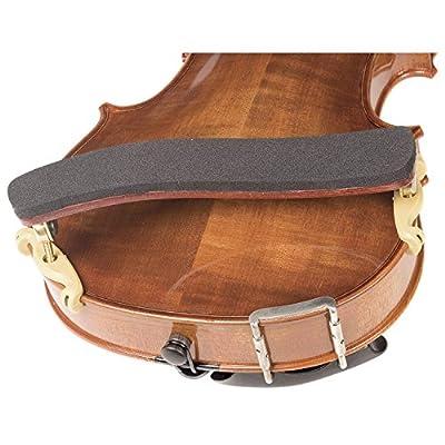Kun Bravo 4/4 Violin Shoulder Rest - Hardwood with Brass Fittings