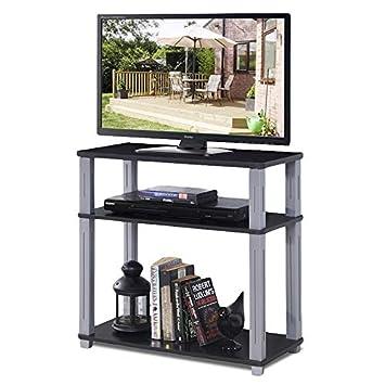 DREAMADE - Mesa de televisión con 3 estantes, para TV, TV, Muebles ...