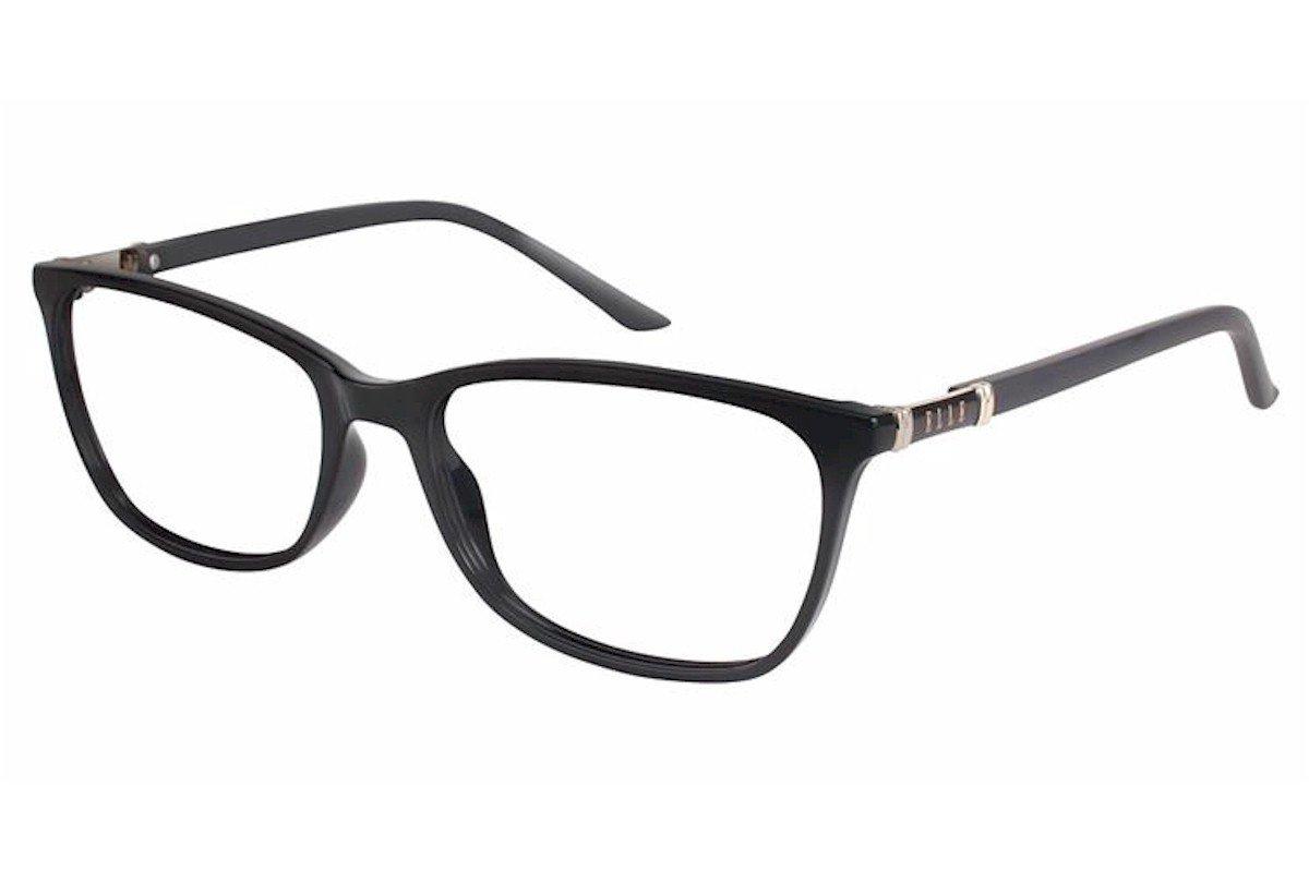 Elle Womens Eyeglasses EL13409 EL//13409 BR Brown Full Rim Optical Frame 53mm