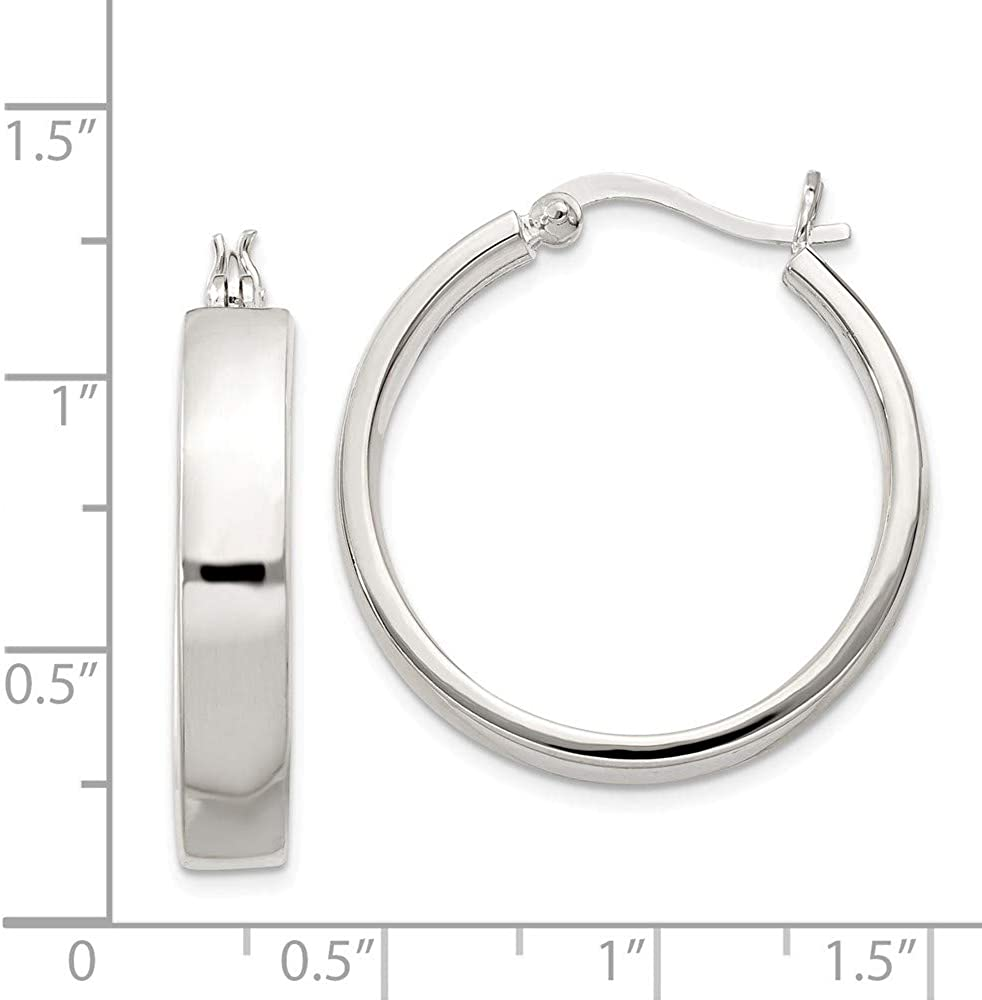 Classic 925 Sterling Silver Round Twisted Tube 20mm Creole Hoops Earrings Cheap