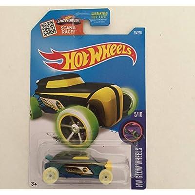 Hot Wheels 2016 HW Glow Wheels Rip Rod 50/250 (Treasure Hunt): Toys & Games