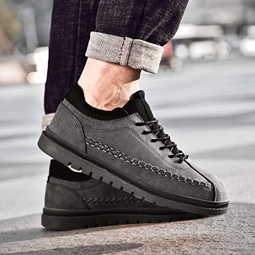 Basse Sportive Piatte Popolari Da Elegante Uomo Vintage scarpa Casual Alla Beikoard Scarpe Grigio Moda Hgzpx