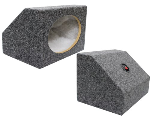 Wedge Speaker Boxes (Absolute USA 6X9PKG 6 X 9 Inches Angled/Wedge Box Speakers, Set of Two (Grey))