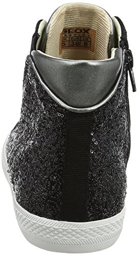 a Giyo Donna D Geox A Collo Black Gun Nero Alto Sneaker w4xIwg5n0q