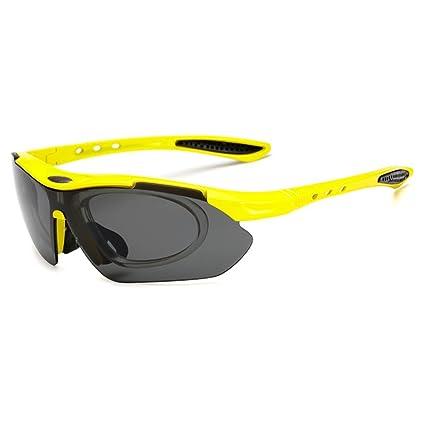 H&YL Gafas de Sol Deportivas polarizadas, con 4 Lentes Intercambiables, diseño de Marco Ultraligero