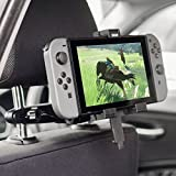 Olixar Nintendo Switch Car Mount - for Back Seat Passengers - Headrest Mount - 360 Degree Rotation - Designed for Nintendo Switch - Recommended by T3 (Color: Black, Tamaño: Nintendo Switch)