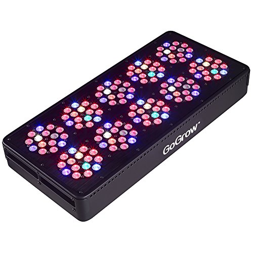 GoGrow V3 Master Grower LED Grow Lights 12 Bands Full Spectrum with UV and IR, CMH 630W Replacement by GoGrow