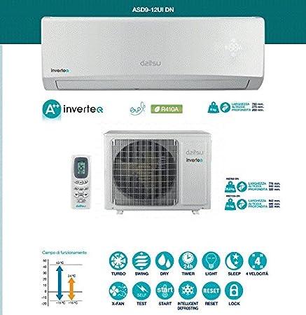 Daitsu SPLIT PARED - inverter asd9ui-dn clase de eficiencia energetica a++ +: Amazon.es: Hogar