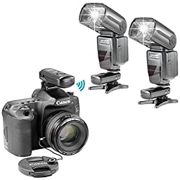 Neewer® NW-985C E-TTL 4-Color TFT Screen Display *High-Speed Sync* Camera Slave Flash Speedlite Kit for Canon EOS 700D/T5i 650D/T4i 600D/T3i 1100D/T3 550D/T2i 500D/T1i 100D/SL1 400D/XTi 450D/XSi 300D/Digital Rebel 20D 30D 60D 5D Mark III 5D Mark II and A
