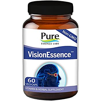 Pure Essence Labs VisionEssence - The Ultimate In Vision Support - 60 Vegetarian Capsules
