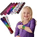 Toy Cubby Slap Bracelets with Hearts and Animals Fun Pattern - 50 pcs