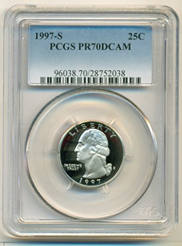 1997 S Washington Clad Proof Quarter PR70 DCAM PCGS