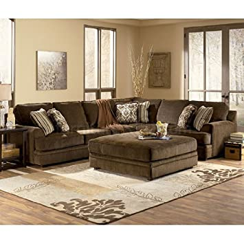 Super Connally Chocolate Sectional Living Room Set By Ashley Home Interior And Landscaping Oversignezvosmurscom
