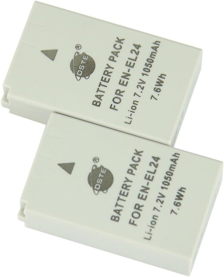 DSTE/® 2-Pack Spare Battery Compatible for NIKON EN-EL24 1 J5 Camera
