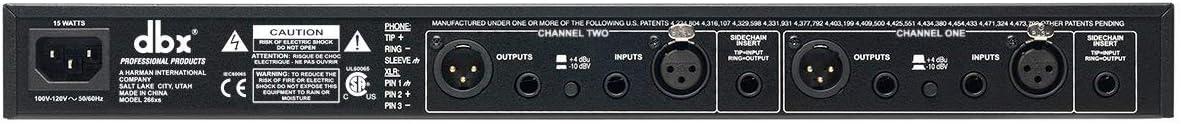 Renewed dbx 266xs Professional Audio Compressor//Gate Dynamic Processor