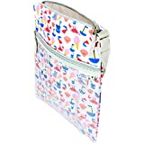 tiddlers & nippers | Wet/Dry Bag | Leak Proof Section for Wet Items/Nappies | External Pocket for Dry Items | Lightweight, Waterproof & Keeps Wet/Dry 100% Separate (Beach Design)