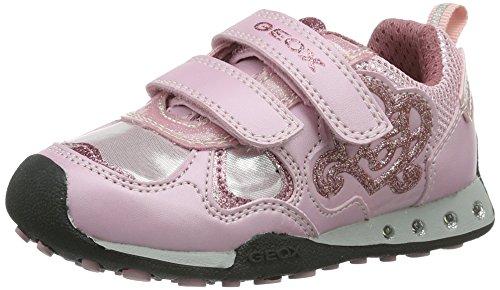 Geox JR New Jocker Girl Lighted Fashion Sneaker (Toddler/Little Kid/Big Kid),Pink,29 EU (11 M US Little Kid) (Toddler Girl Jocker)