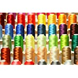 PREMIUM 50 Cones (1100 Yards Each) of Polyester Embroidery Threads for for Brother Babylock Janome Singer Pfaff Husqvarna Bernina Machines From Threadnanny Set 1