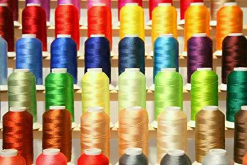 PREMIUM 50 Cones (1100 Yards Each) of Polyester Embroidery Threads for for Brother Babylock Janome Singer Pfaff Husqvarna Bernina Machines From Threadnanny Set - Thread Brother Embroidery