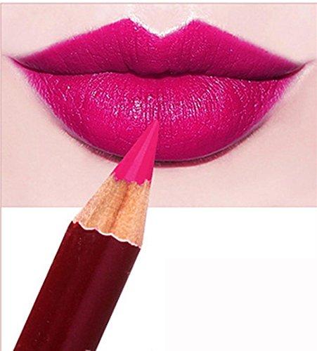 AMA(TM) Waterproof Long Lasting Microblading Permanent Makeup Tattoo Lip Liner Pencil Lipstick (I)