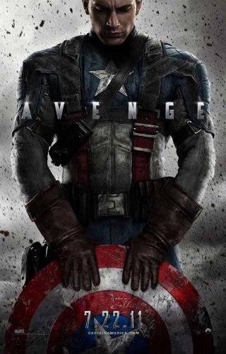 1 X Captain America: The First Avenger 11x17 Movie Poster (2011)