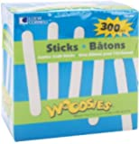 Loew Cornell 1021253 Woodsies Jumbo Craft Sticks (5-Pack, Total 300)