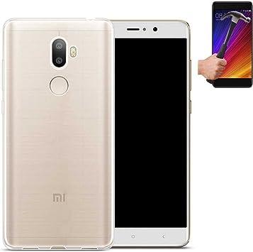 Todobarato24h Funda TPU Lisa Compatible con Xiaomi Mi 5S Plus 100% Transparente + Protector de Cristal Templado: Amazon.es: Electrónica