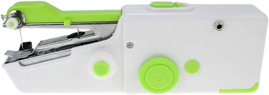 Mini máquina de coser manual para viajeros, adultos, principiantes, niños, emergencias, bricolaje y hogar 21x7x3.5cm verde