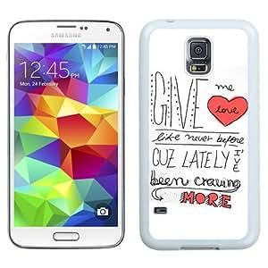 Beautiful And Unique Designed Case For Samsung Galaxy S5 I9600 G900a G900v G900p G900t G900w With Ed Sheeran Give Me Love White Phone Case