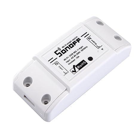 Docooler SONOFF 10A Bricolaje Inteligente WiFi General Modificación de Control Remoto de Potencia Cierre con Smart