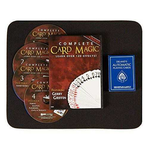 Advanced Effects - Magic Makers Ultimate DVD Kit - Complete Card Magic 7 Volume Set on 4 DVDs - Teaches Over 120 Card Trick Effects with Delands Automatic Deck and a Performance Pad
