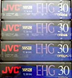 JVC EHG (Extra High Grade Compact) 30 VHS C 4 Pack