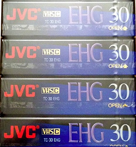 JVC EHG (Extra High Grade Compact) 30 VHS C 4 Pack for sale  Delivered anywhere in USA