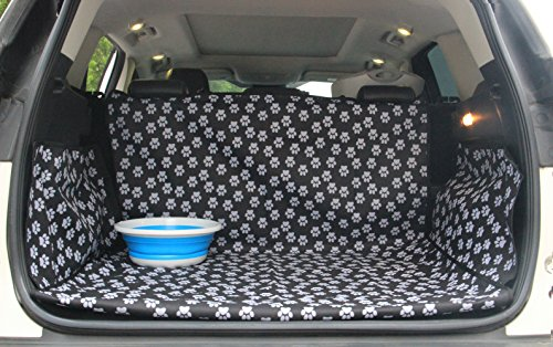 LULUME Pet Dog Trunk Cargo Cover - Car SUV Van Seat Protector - Waterproof Car Floor Mat for Dogs Cats - Washable Dog Accessories (Best Waterproof Car Floor Mats)