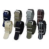 BluShark - The Original Premium Nylon Watch Strap - Multiple Sizes and Styles