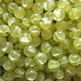 "Unique & Custom {3/4'' Inch} Approx 2 Pound Set of Big ""Round"" Clear Marbles Made of Glass for Filling Vases, Games & Decor w/ Basic Shiny Lemonade Swirl Inner Cat's Eye Design [Yellow]"