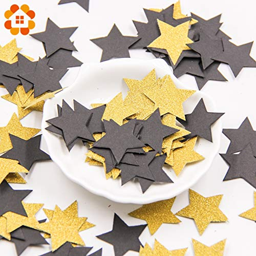 Topsame 100Pcs Paper Confetti Round & Star & Heartshape Multicolor Home Garden Wedding Party Table Decoration Event Party Supplies from Topsame