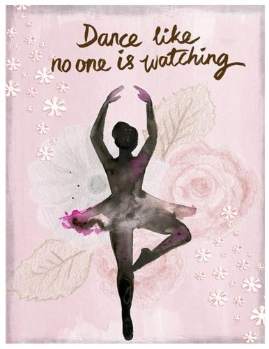 Dance Like No One Is Watching: Ballet Notebook (Composition Book Journal) (8.5 x 11 Large), Dance Gifts (110 Pages)