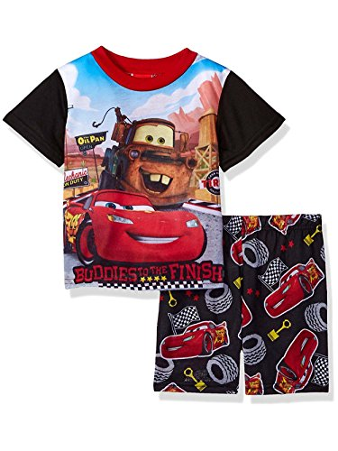 Disney Little Boys' Cars 2-Piece Pajama Set, Black, 2T Cars Pajamas Pjs