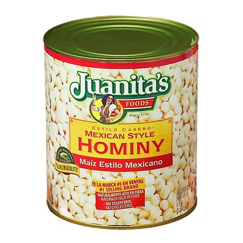 Juanita's Mexican Style Hominy - 6.6 Lb Can